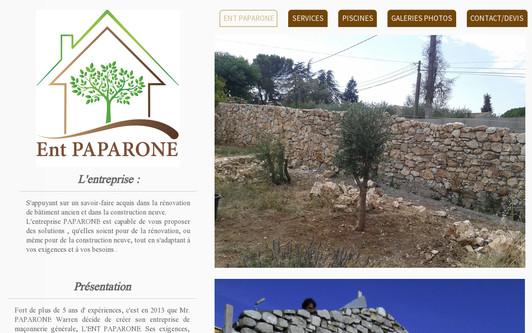 Site exemple ENT PAPARONE Maçonnerie générale