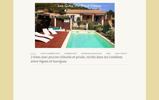 Example website location de gîte et chambre d'hôte corbières france aude