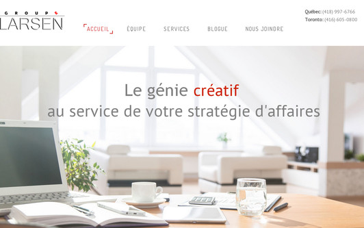 Site exemple Groupe Larsen