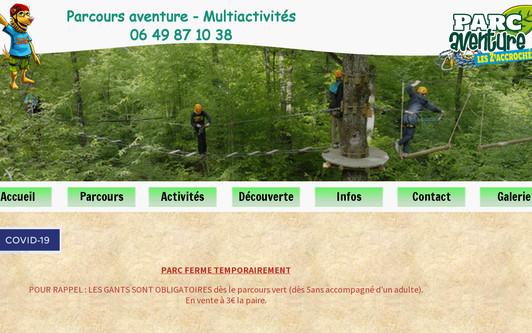 Ejemplo de sitio web Parc Aventure dans la Nièvre : Les Zaccrochés