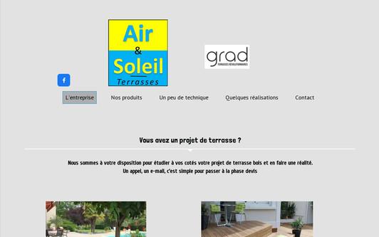 Ejemplo de sitio web air et soleil Terrasses GRAD, terrasses bois en sarthe (72)