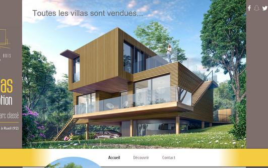 Ejemplo de sitio web Villas Vert Bois