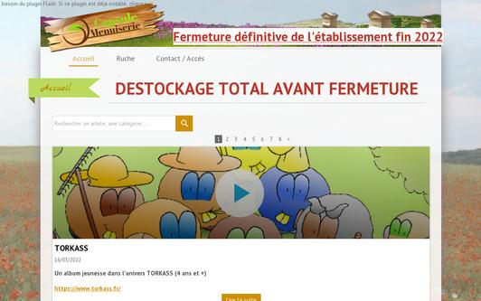 Ejemplo de sitio web Fabricant artisanal de ruches, meubles, en franche-comté dans le Doubs à proximité de Besançon.
