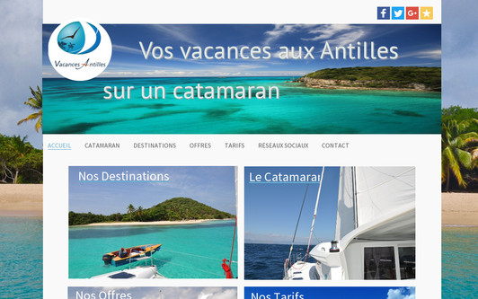 Example website vacances antilles