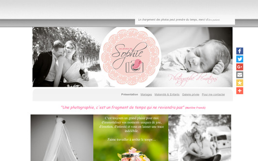 Ejemplo de sitio web Les Photos de Sophie