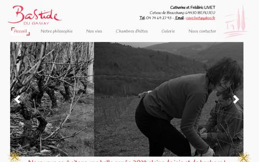 Ejemplo de sitio web bastide du gamay