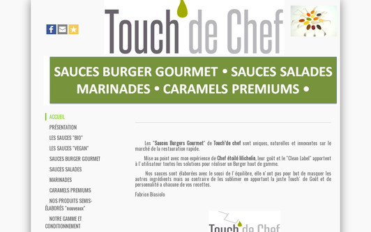 Example website Touch de chef