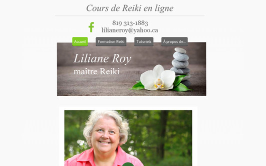 Example website LilianeRoy