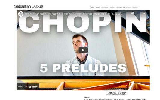 Ejemplo de sitio web Sebastien Dupuis