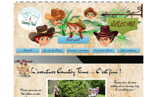 Ejemplo de sitio web Country Time