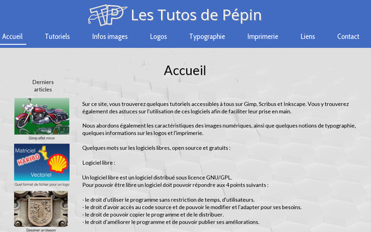 Example website Tutos Gimp Scribus Inkscape