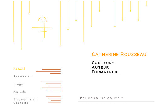 Example website Catherine Rousseau