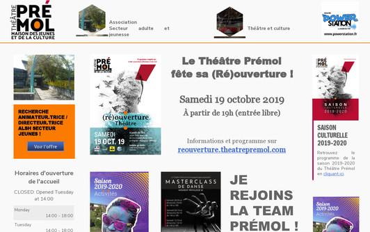 Ejemplo de sitio web MJC théâtre Prémol