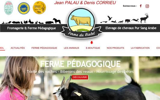 Site exemple LA FERME DU RIALET