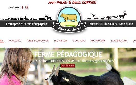 Ejemplo de sitio web LA FERME DU RIALET