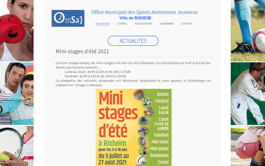 Example website Office Municipal des Sports Animation Jeunesse
