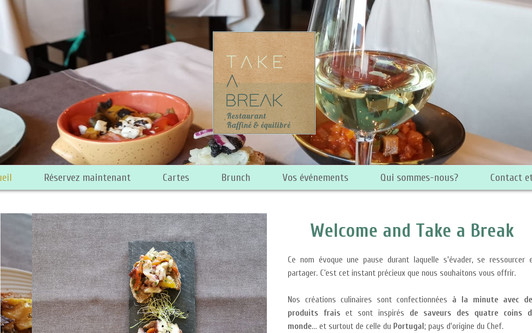 Ejemplo de sitio web Take a Break