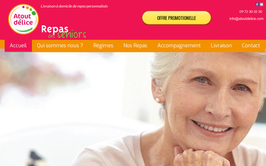 Ejemplo de sitio web Atout-Délice