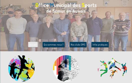 Ejemplo de sitio web Office Municipal des Sports