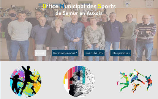 Ejemplo de sitio web Office Municipal des Sports