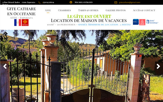 Site exemple Gite Cathare en Occitanie