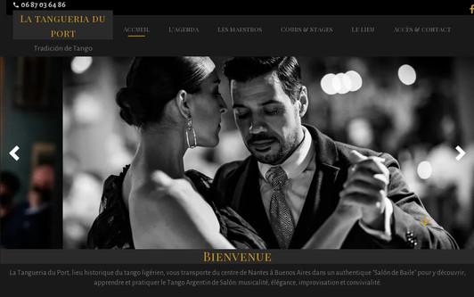 Example website Tango à Nantes: la Tangueria
