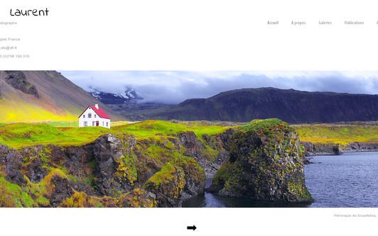 Site exemple Laurent Lhoté Photographe
