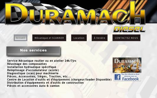 Ejemplo de sitio web Duramach Diesel