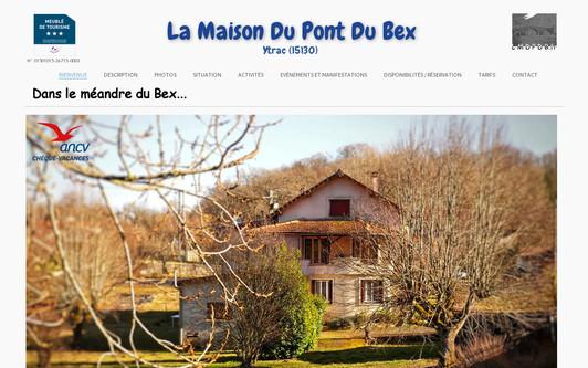 Site exemple La Maison Du Pont Du Bex