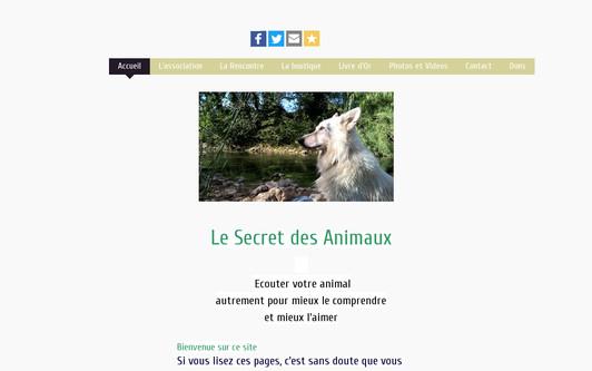 Site exemple Le Secret des Animaux