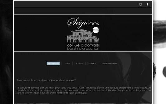Example website Segolook - Coiffure à domicile