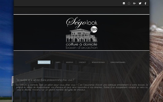 Site exemple Segolook - Coiffure à domicile
