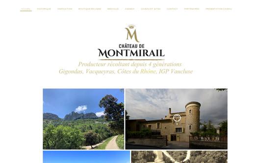 Site exemple Chateau de Montmirail