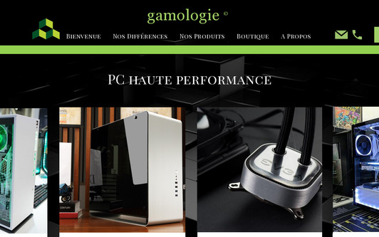 Ejemplo de sitio web www.gamologie.fr