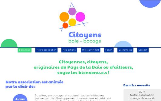Ejemplo de sitio web Citoyens du Pays du Mont-Saint-Michel