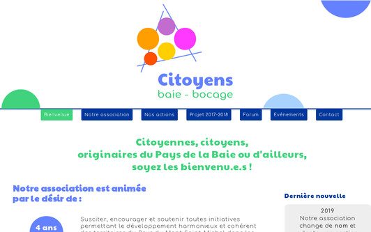 Site exemple Citoyens baie bocage