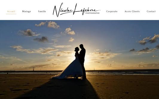 Ejemplo de sitio web Photographe Nicolas Lefebvre - Mariage Grossesse Bébé Naissance Entreprise- Rouen Normandie