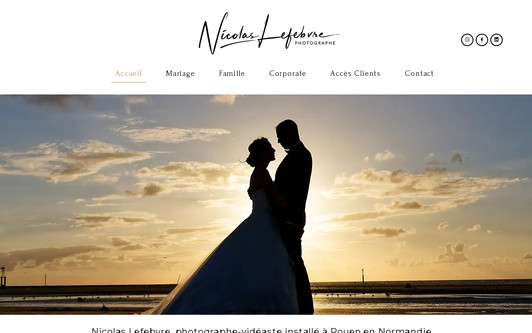 Example website Photographe Rouen Nicolas Lefebvre - Photographe Mariage Rouen Normandie