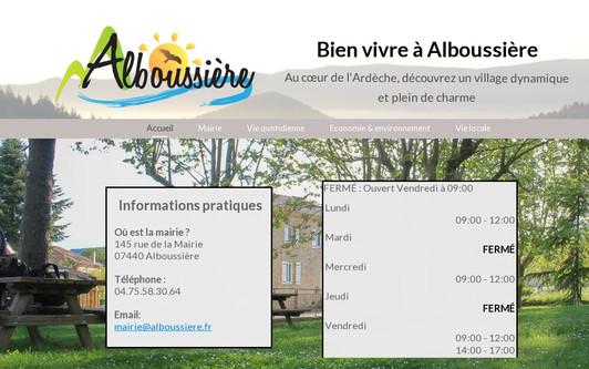 Site exemple Commune d'Alboussière