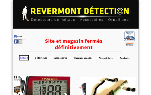 Example website REVERMONT DETECTION