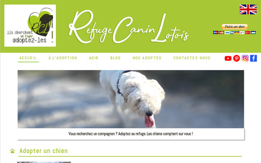 Example website Refuge Canin Lotois