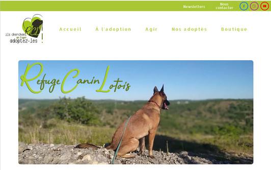 Example website Refuge Canin Lotois