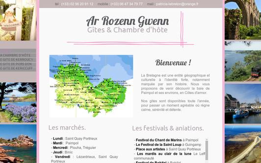Example website Ar Rozenn Gwenn