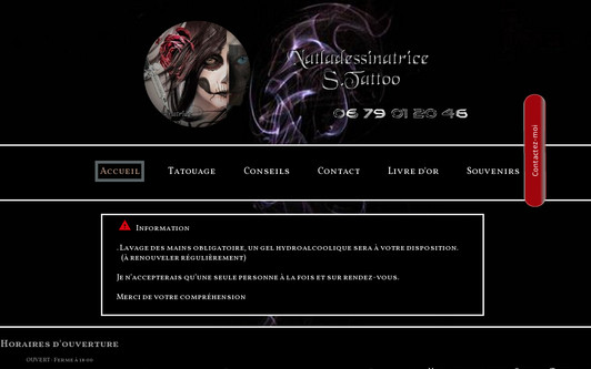 Example website natladessinatrice S.Tattoo