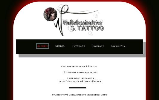Example website natladessinatrice Studio Tattoo