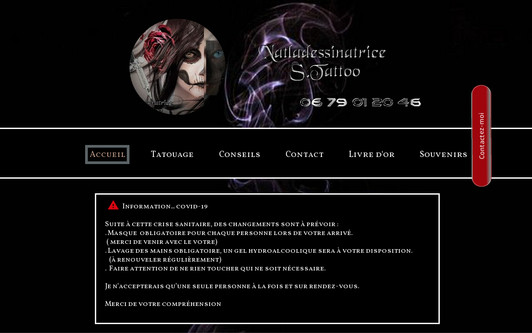 Site exemple natladessinatrice Studio Tattoo