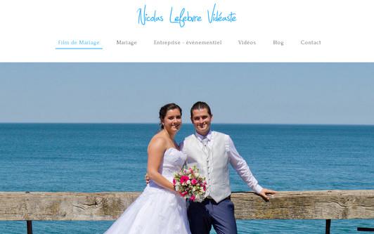 Example website Film de mariage Vidéaste Nicolas Lefebvre - Rouen Normandie