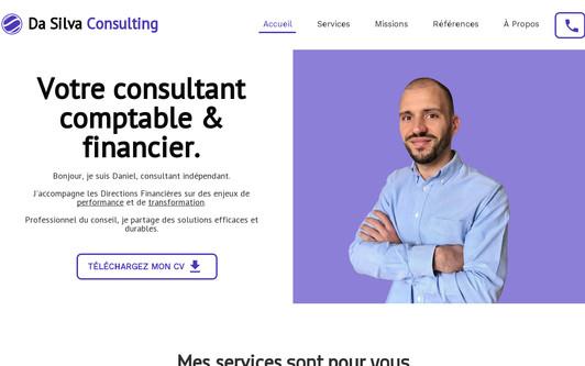 Example website DA SILVA CONSULTING | CONSULTANT COMPTABLE ET FINANCIER