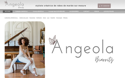 Example website Angeola mariage