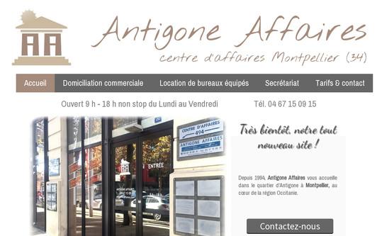 Ejemplo de sitio web ANTIGONE AFFAIRES - Domiciliation à Montpellier intra-muros